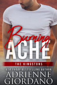 Cover for Burning Ache by Adrienne Giordano Single man with hands in his pockets