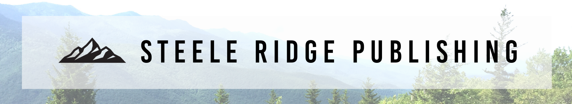 Banner with Steele Ridge Publishing and mountain logo