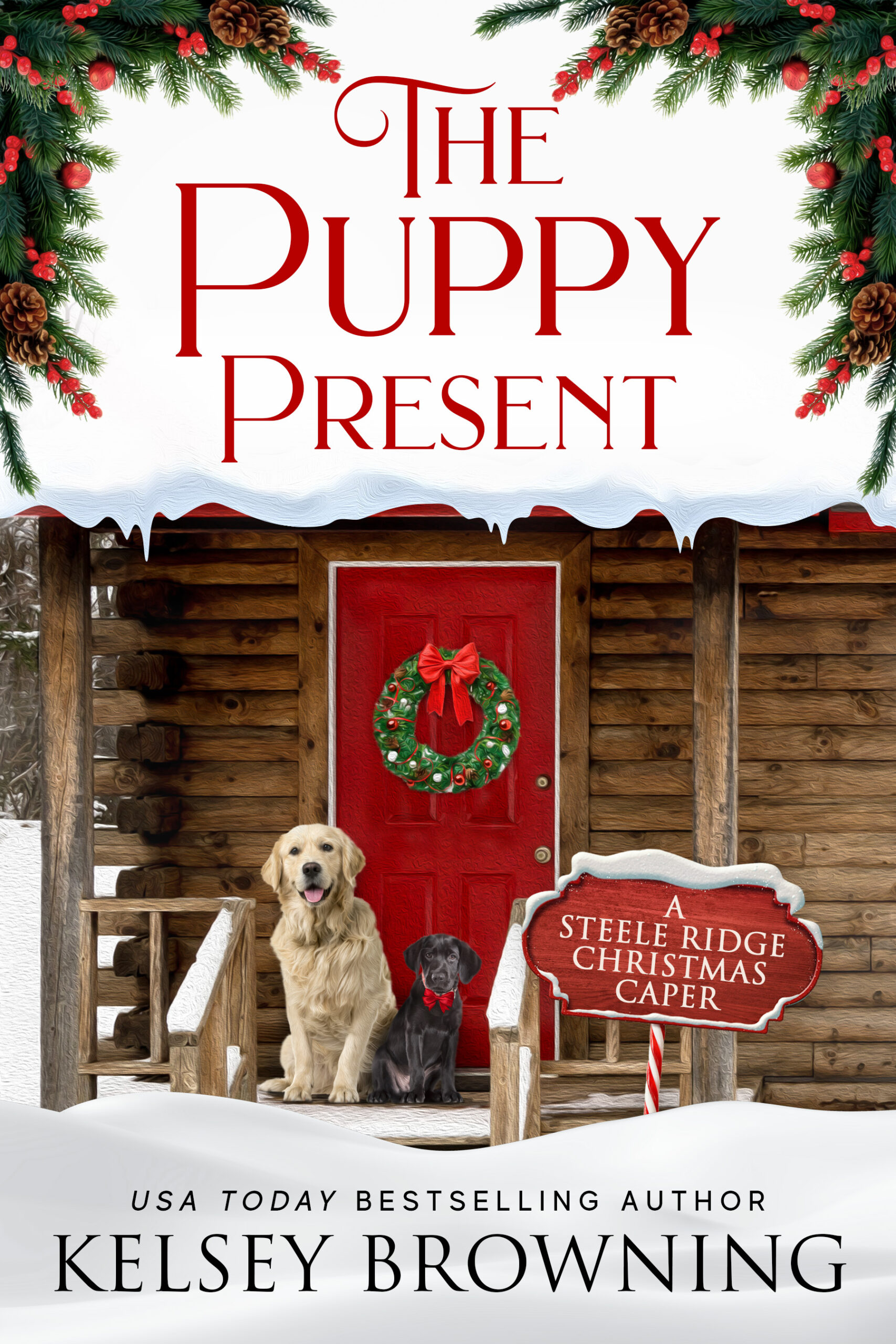 The Puppy Present by Kelsey Browning cover